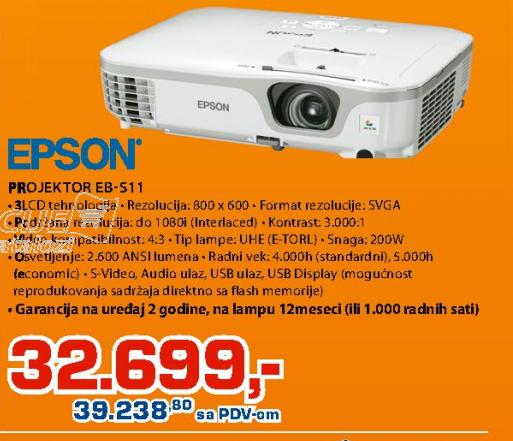 Projektor Epson EB-S11
