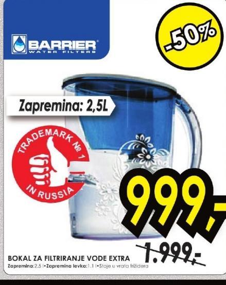 Bokal za filtriranje vode EXTRA