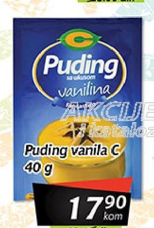 Puding vanila