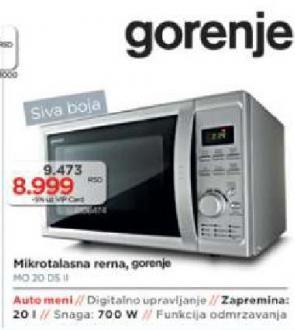 MIKROTALASNA MO 20 DS II