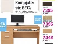 Kompjuter sto Beta, wenge, somona hrast