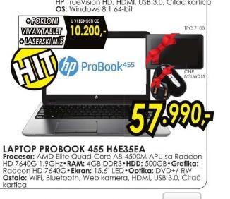 Laptop ProBook 455-H6E35EA