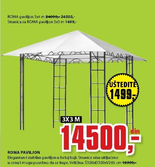 ROMA PAVILJON 3X4M
