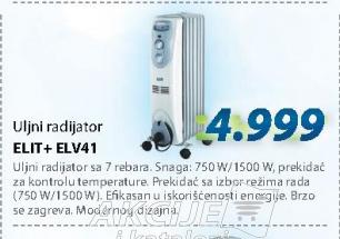 Uljani radijator ELV41