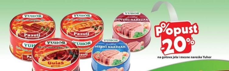 Popust -20% na gotova jela i mesne nareske Yuhor