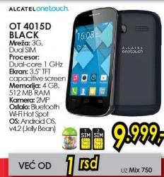 Mobilni telefon OT 4015d Black