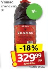 Crno vino Vranac Grozd