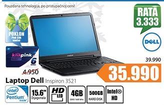 Laptop Inspiron 3521
