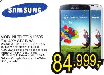 Mobilni telefon i9505 Galaxy S IV B/W