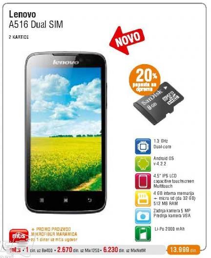 Mobilni telefon A516 Dual Sim