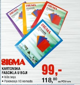 Kartonska Fascikla u boji