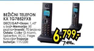 Bežični telefon KX TG7852FXB