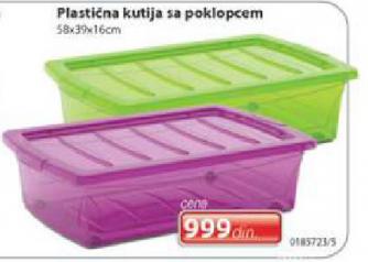 Plastična kutija sa poklopcem