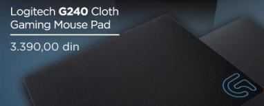 Podloga za miša G240 Cloth