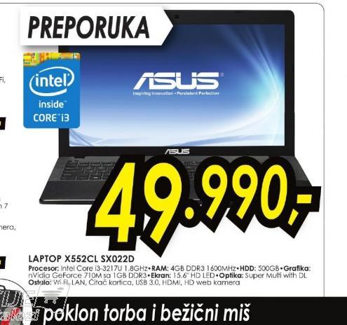 Laptop X552CL-SX022D