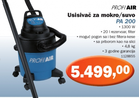 Usisivač za mokro/suvo PA 200
