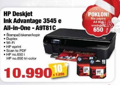 Multifunkcijski uređaj Deskjet Ink Adventage 3545 e A9t81c