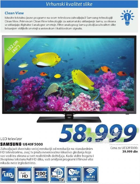 "Televizor LED 40"" Ue40f5000"