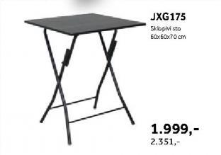 Sklopivi sto Jxg175