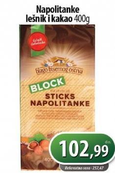 Napolitanke lešnik i kakao