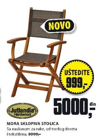 Baštenska stolica MORA