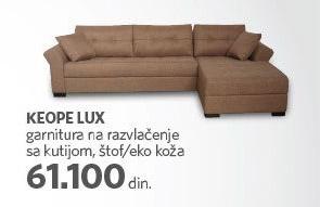 Ugaona garnitura Keope Lux
