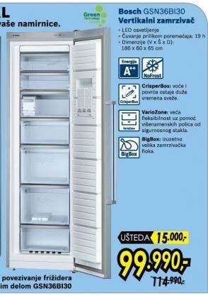 Vertikalni Zamrzivač GSN36BI30