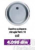 Usadna sudopera okrugla Form 10 Lož