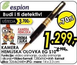Kamera hemijska olovka Eg S10 Espion