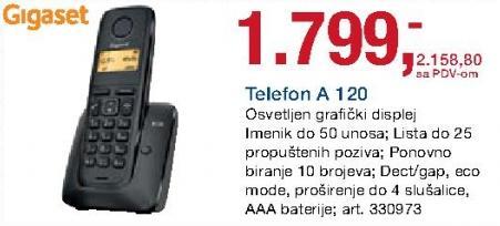 Bežični telefon A 120 Gigaset