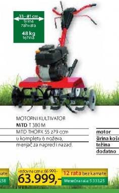 Motorni kultivator MTD T 380 M