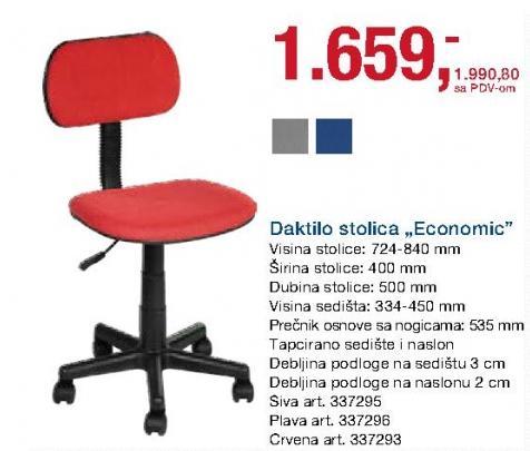 Daktilo stolica Economic