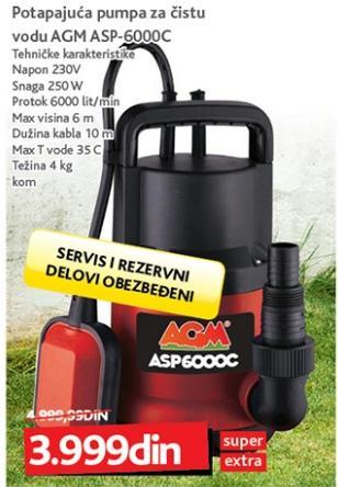 Potapajuća pumpa za čistu vodu Asp-6000c