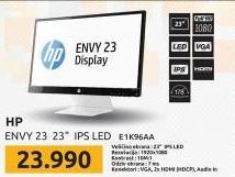 Monitor LED 23'' ENVY 23 IPS Full HD - E1K96AA