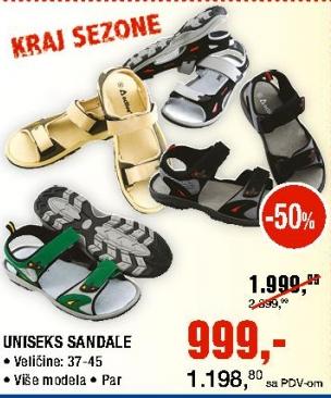 Uniseks sandale