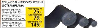 Folija od punjenog polietilena Izoterm Plama 2mm