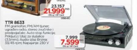 Radio gramofon TTR 8633