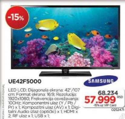 Televizor UE42F5000 LED