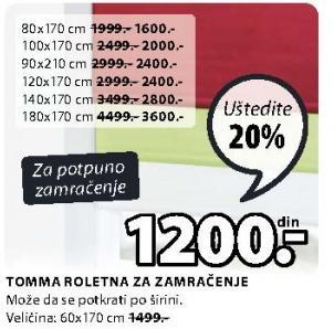 Roletna Tomma 80x170cm