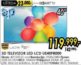 "Televizor LED 40"" Ue40f8000"