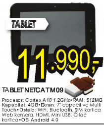 Tablet NETCAT M09