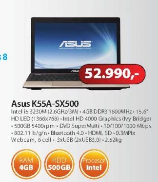 Notebook K55A-SX500