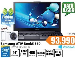 Laptop ATIV Book5 530 NP530U4E-K01HS