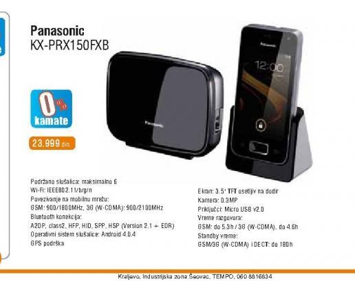 Fiksni telefon KX-PRX150FXB Premium DECT