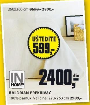 Prekrivač Baldrian 220x260