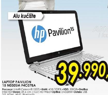 Laptop Pavilion 15-N030SM F4C07EA