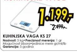 Kuhinjska Vaga KS 27