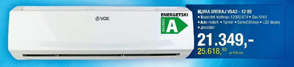 Klima uređaj VSA3 - 12BE