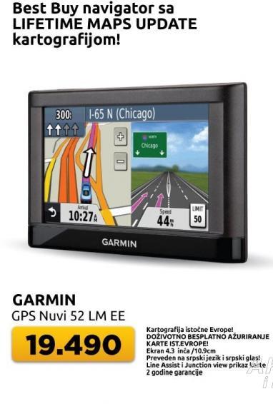 Navigacija Garmin Nuvi 52 Lm Ee