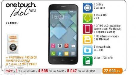 Mobilni telefon  OT6012D Idol Mini